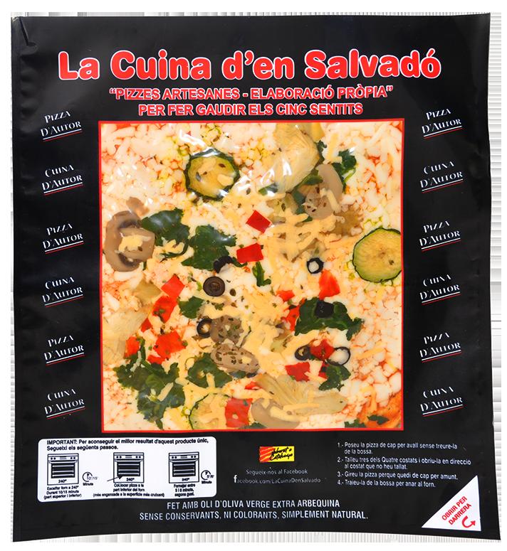 Pizza de verdures
